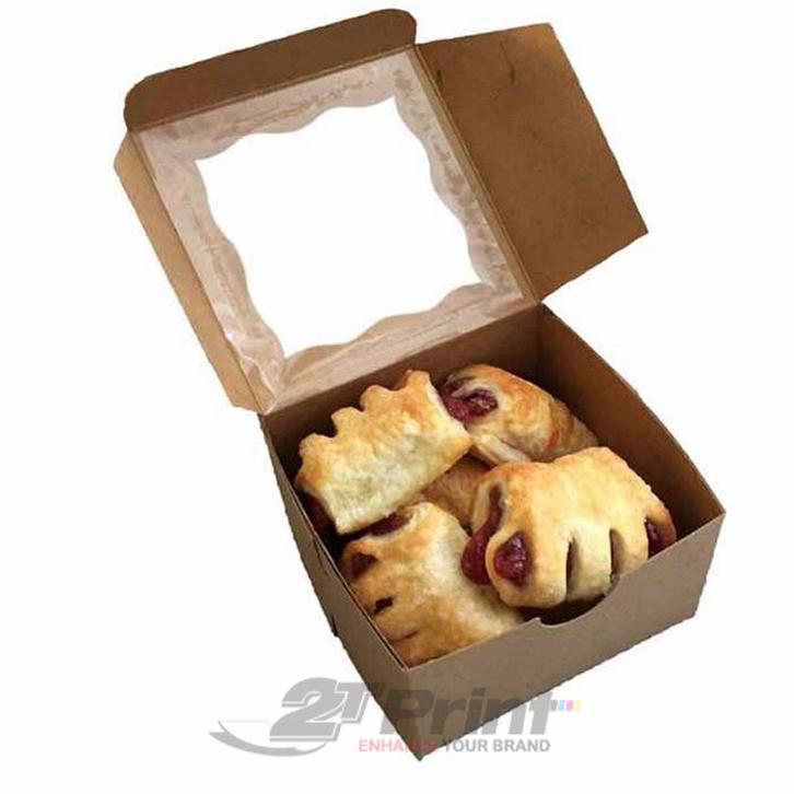 mẫu in hộp giấy đựng bánh ngọt đơn giản