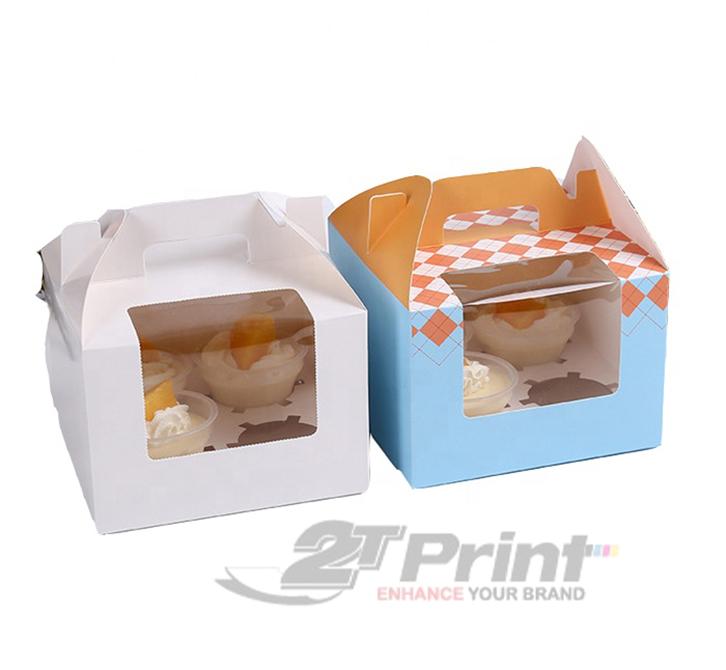 mẫu in hộp giấy đựng bánh ngọt có quai xách