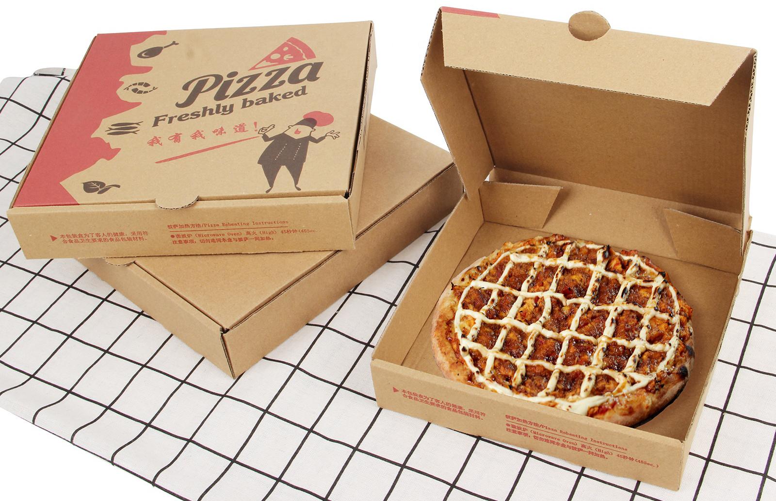 Hộp giấy kraft làm hộp pizza