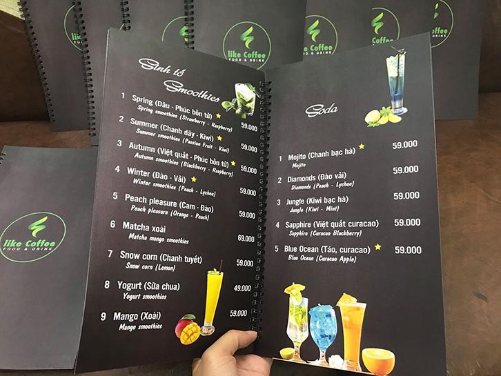 quy trình in menu 2TPrint