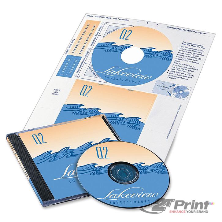 in nhãn đĩa CD