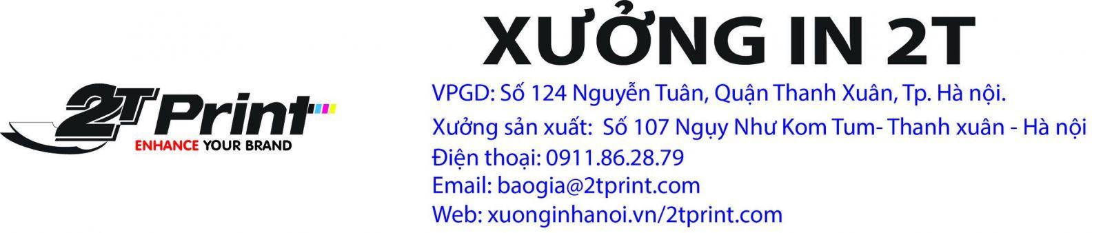 Xưởng in 2T là doanh nghiệp in ấn hàng đầu tại Hà Nội