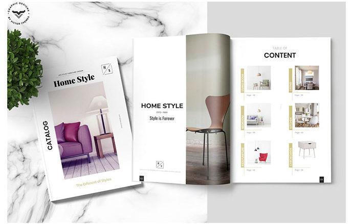 Những mẫu catalogue nội thất với hình ảnh sắc nét, chân thực