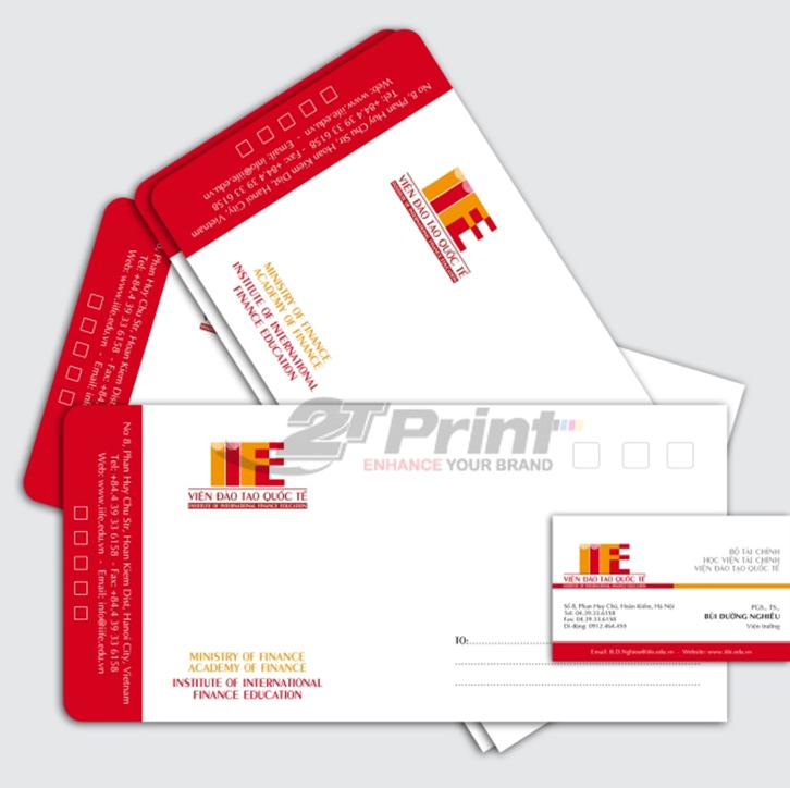 mẫu in phong bì thư thiết kế đơn giản