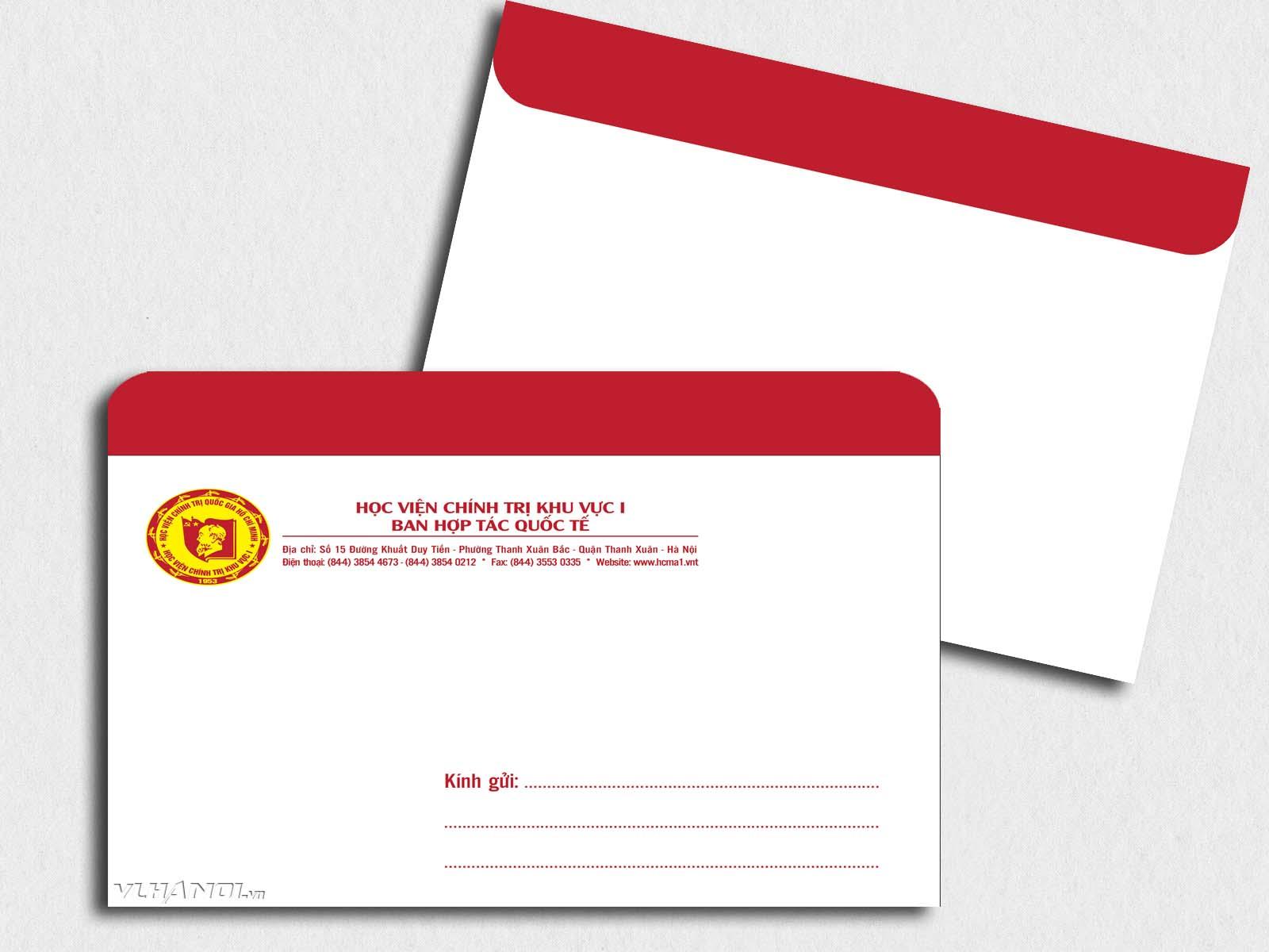 Mẫu phong bì thư đẹp từ Xưởng in 2T