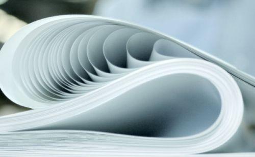Vật liệu in phong bì thư thường là giấy duplex