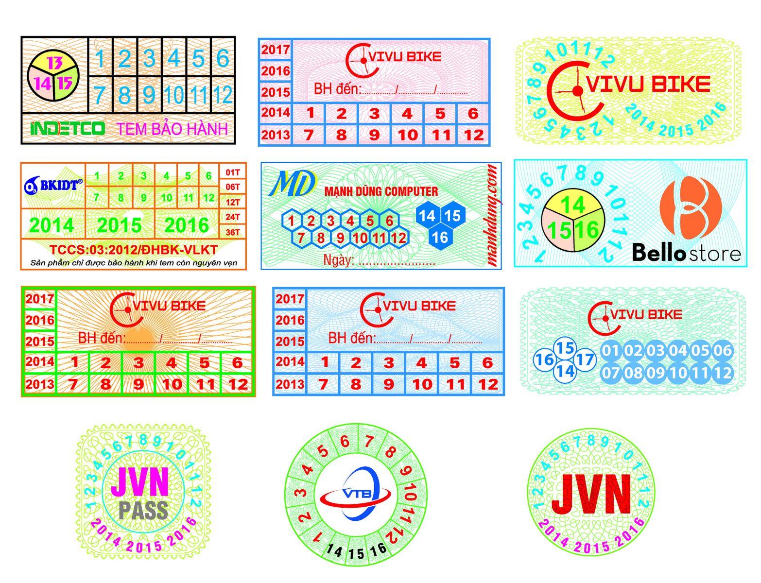 Nội dung thiết kế trên tem bảo hành cần hợp lý