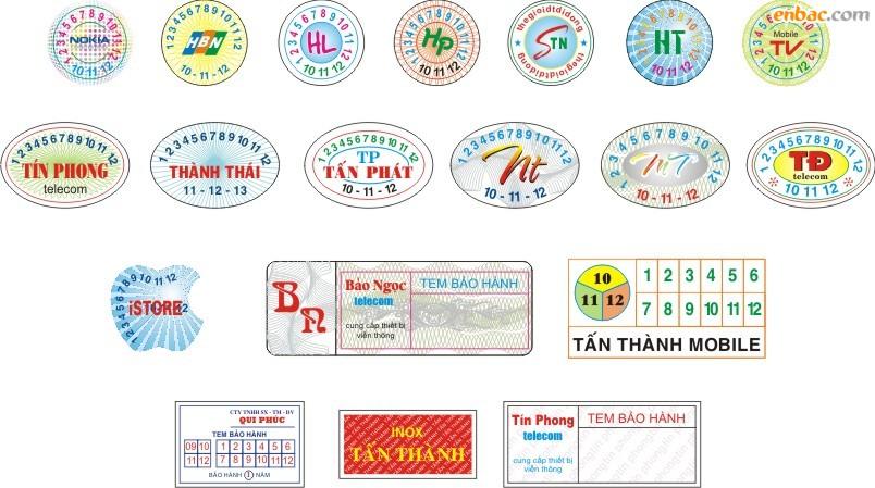 Một số mẫu tem chống hàng giả nổi bật