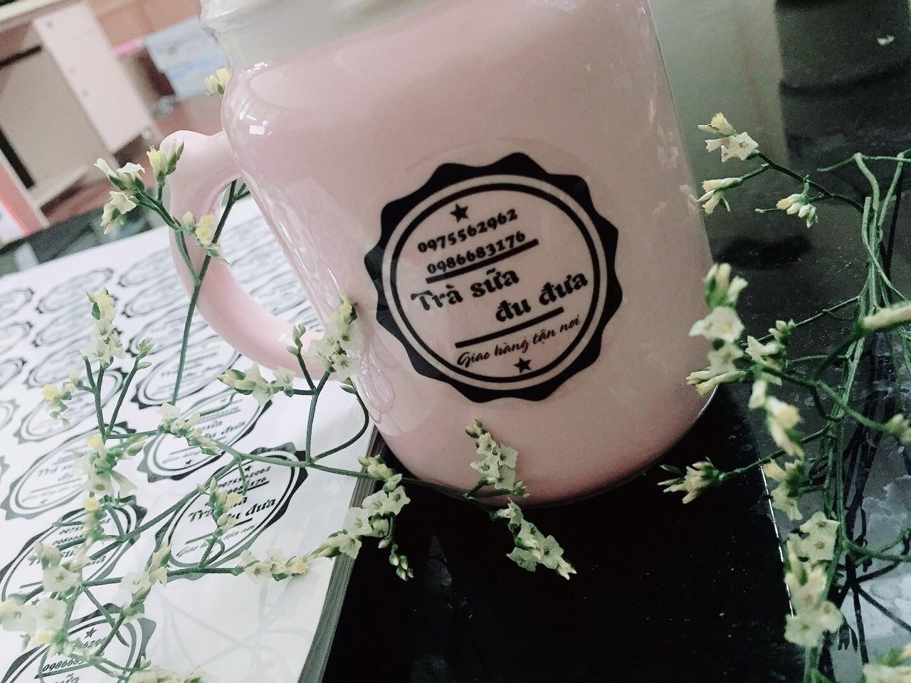 in tem nhãn trà sữa