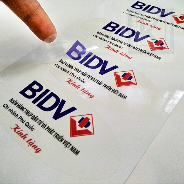 Decal nhựa khổ lớn cho ngân hàng BIDV