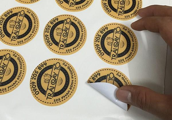 Font chữ trên tem nhãn chất lượng cao.