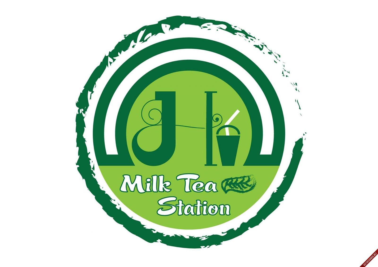 Mẫu in tem nhãn trà sữa  của 2T