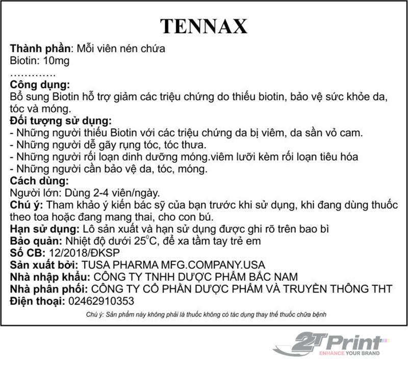 thông tin in tem phụ