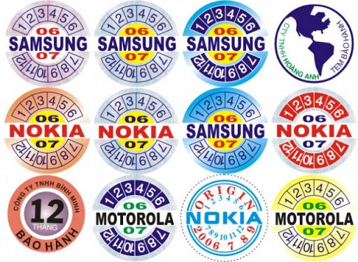 Tem bảo hành được sử dụng phổ biến trong lĩnh vực điện tử