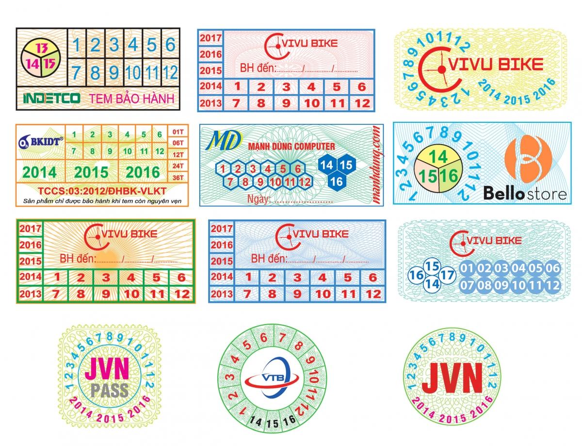Tem vỡ, tem bể là loại tem thường được sử để in tem bảo hành cho sản phẩm