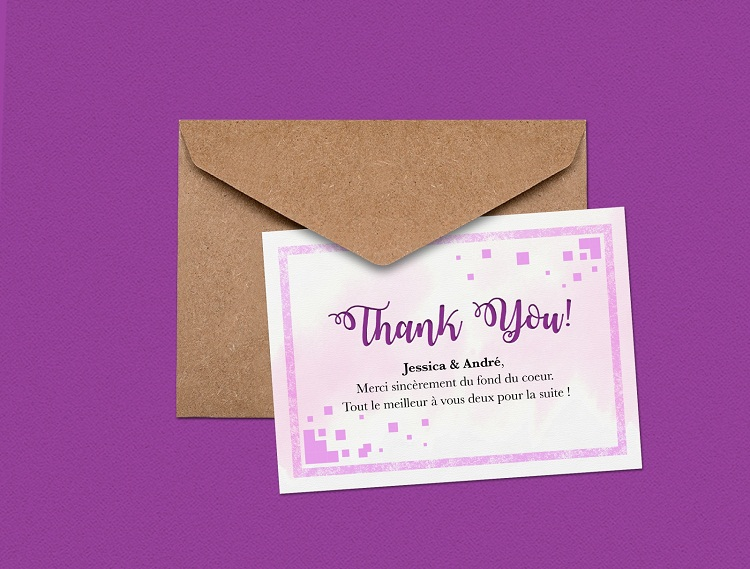 In thiệp cảm ơn sử dụng trong nhiều sự kiện đặc biệt