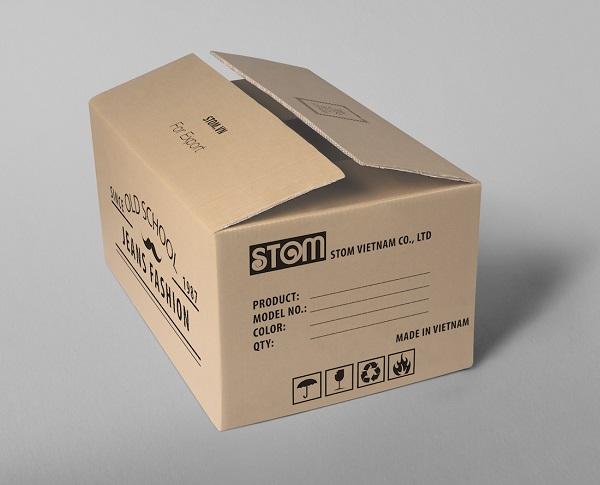 mẫu in thùng carton đựng khẩu trang offset