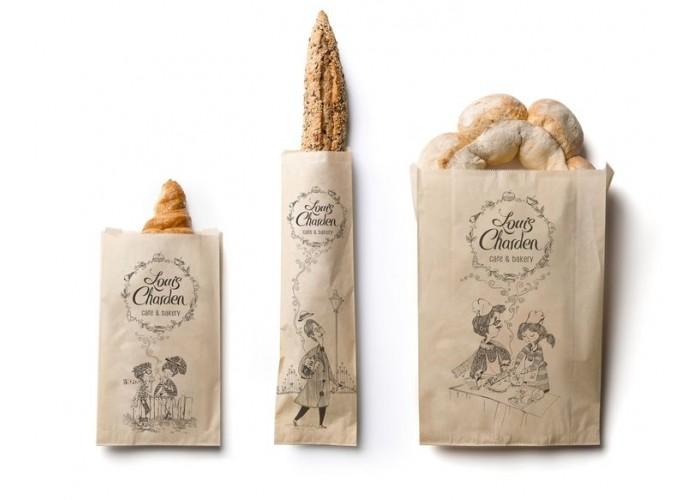 mẫu in túi giấy đựng bánh mì que