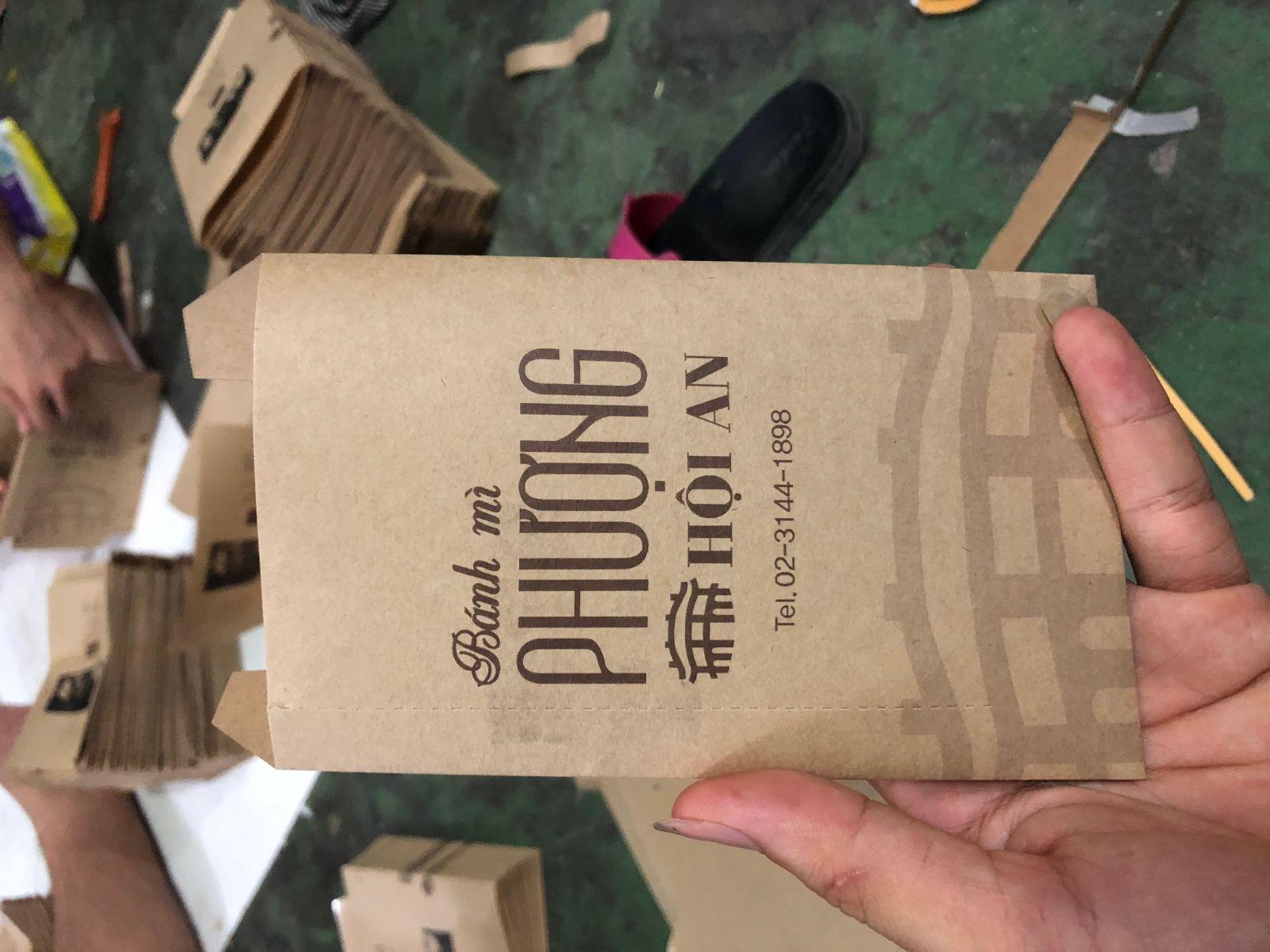 dịch vụ in túi giấy đựng bánh mì que giá tốt