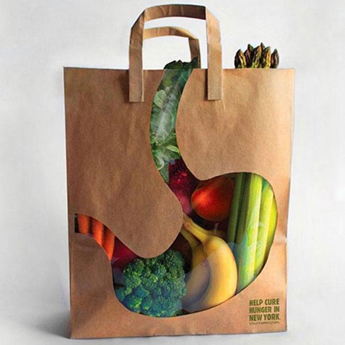 Mẫu túi giấy đựng hoa quả của XuongIn2T