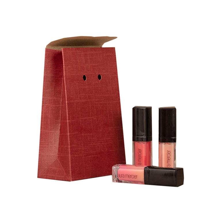 mẫu in túi giấy đựng mỹ phẩm màu đỏ