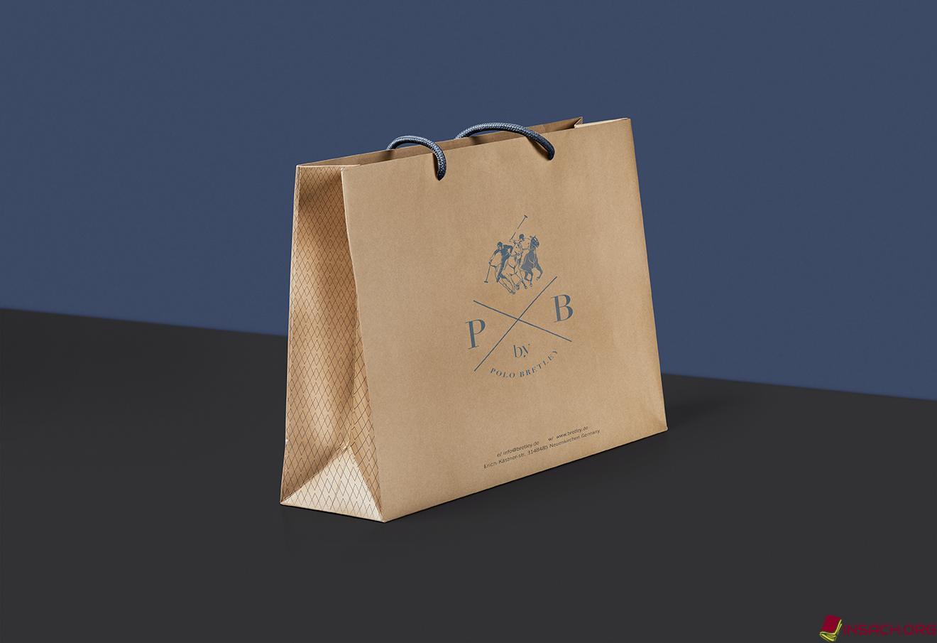 Túi giấy Kraft được thiết kế đơn giản