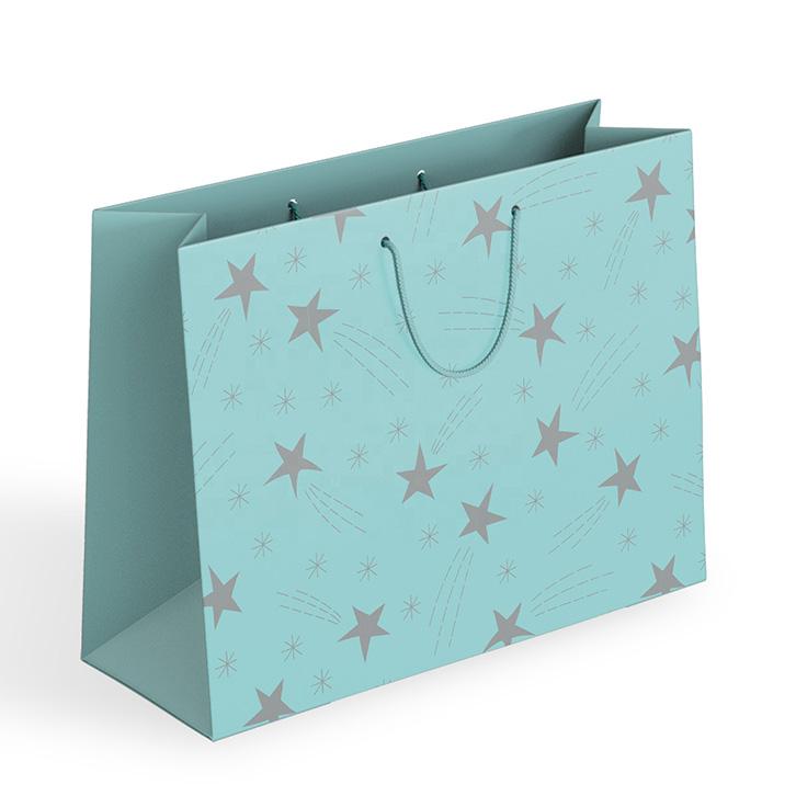 mẫu in túi giấy số lượng ít màu xanh mint