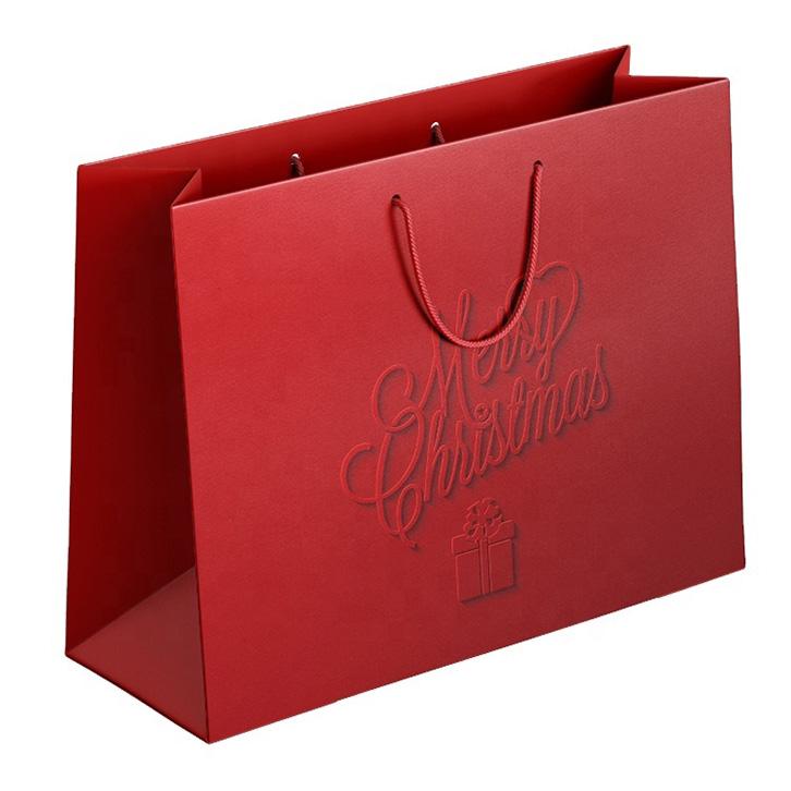 mẫu in túi giấy số lượng ít sắc đỏ