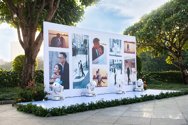 kích thước backdrop tiệc cưới