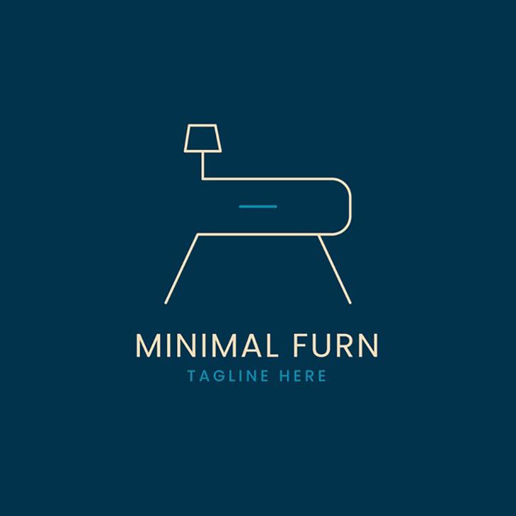 mẫu thiết kế logo nội thất tối giản