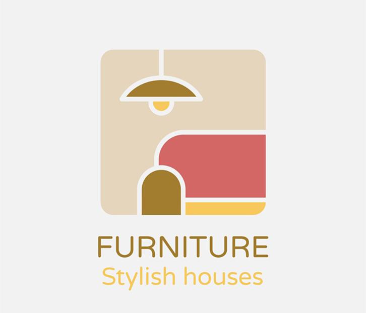 mẫu thiết kế logo nội thất nổi bật