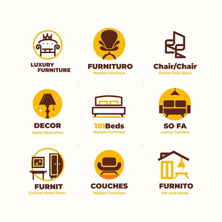 nguyên tắc thiết kế logo nội thất