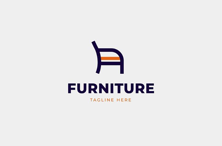 mẫu thiết kế logo nội thất đơn giản