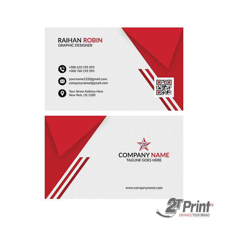 mẫu card visit cá nhân sắc đỏ