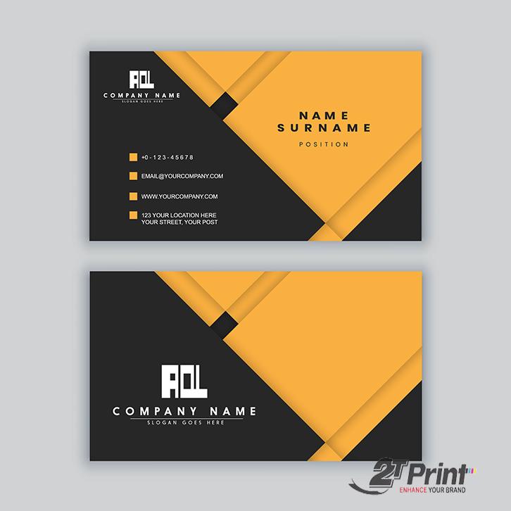 mẫu card visit cá nhân vàng đen