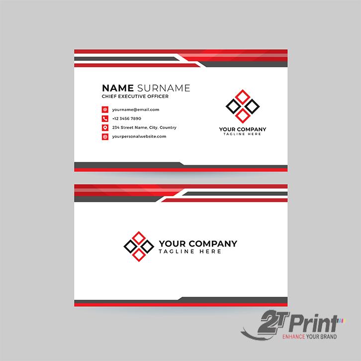 mẫu card visit cá nhân ba gam màu