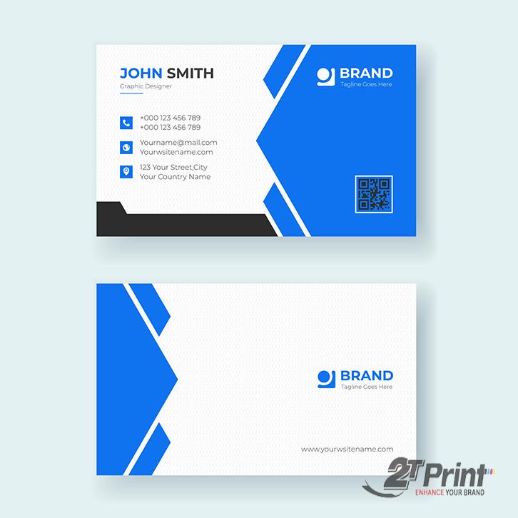 mẫu card visit cá nhân màu xanh dương