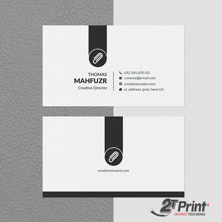 mẫu card visit cá nhân tối giản đen - trắng