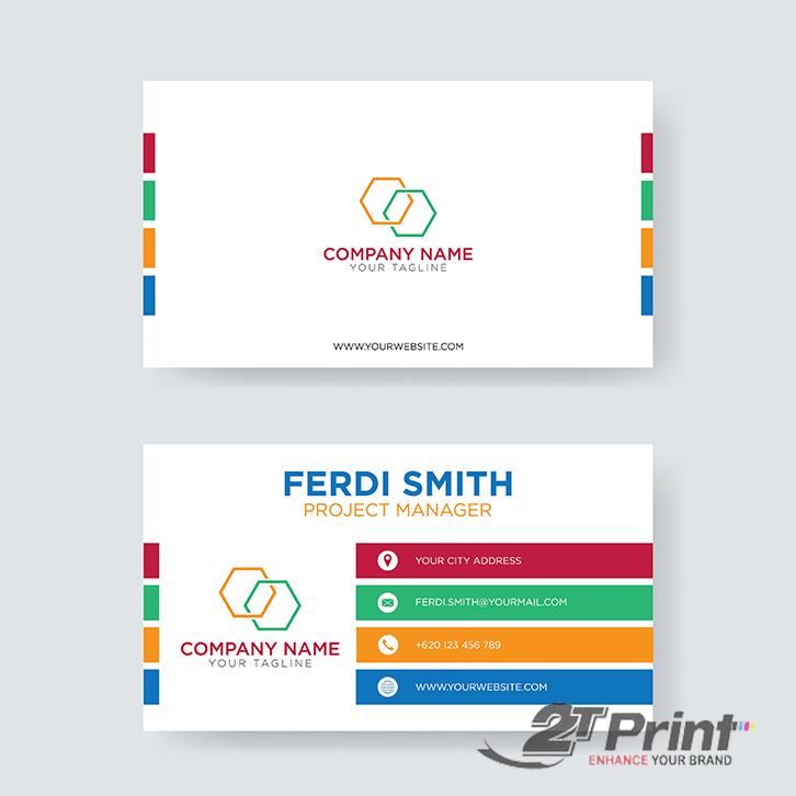 mẫu card visit cá nhân màu sắc