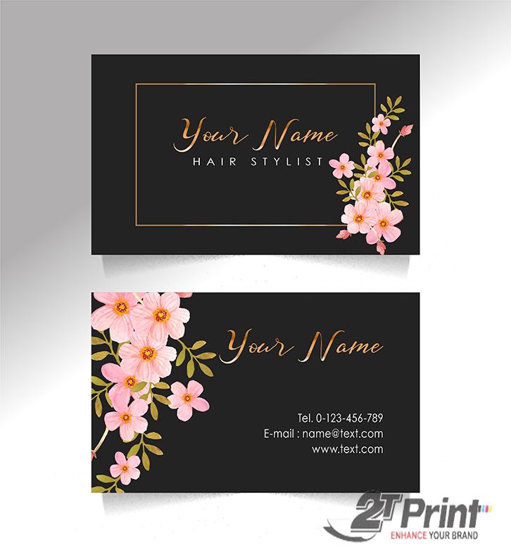 mẫu card visit cá nhân tone đen