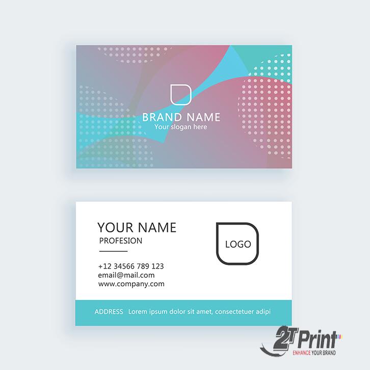mẫu card visit cá nhân màu nhẹ nhàng