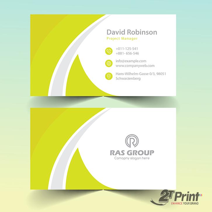 mẫu card visit cá nhân màu vàng