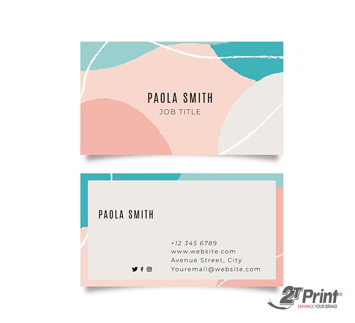 mẫu card visit cá nhân nhiều màu sắc