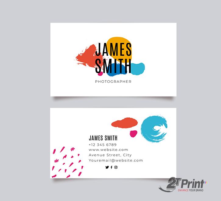 mẫu card visit cá nhân tối giản