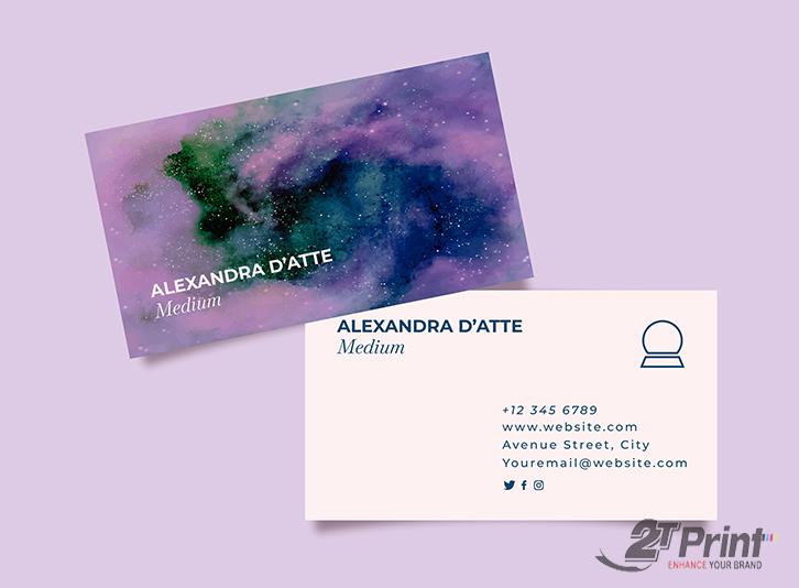 mẫu card visit cá nhân màu tím