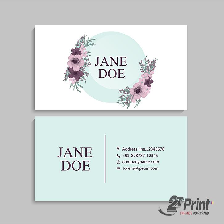 mẫu card visit cá nhân cho nữ