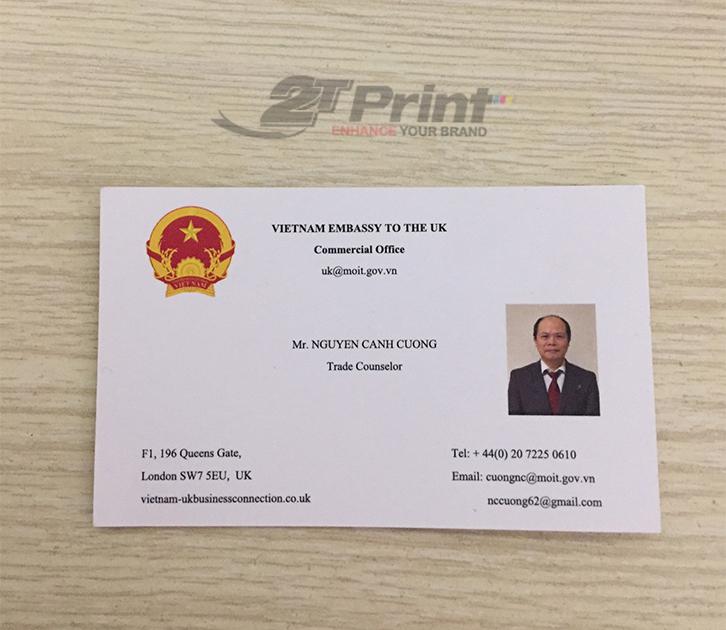 mẫu card visit giấy mỹ thuật dành cho cá nhân