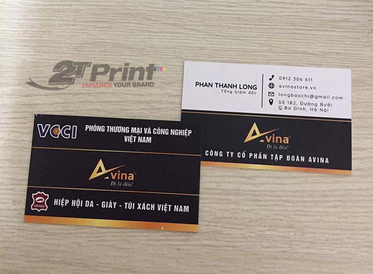 mẫu card visit giấy mỹ thuật