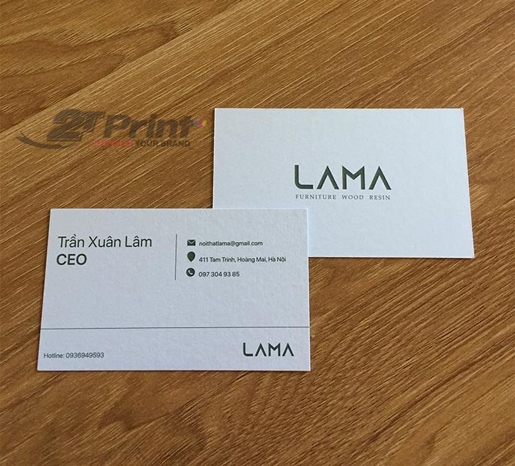 mẫu card visit giấy mỹ thuật cho giám đốc
