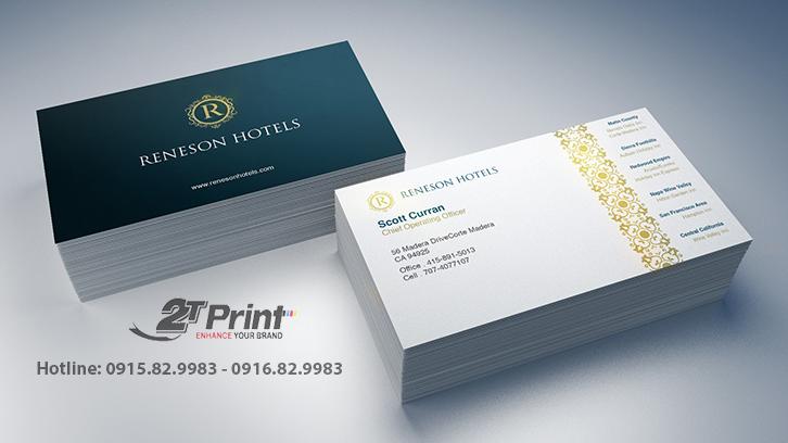 mẫu card visit khách sạn được yêu thích